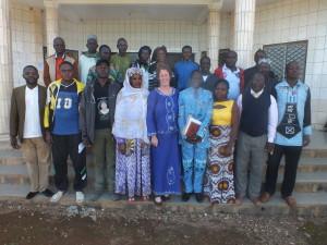 Groepsfoto met de de directeuren en voorzitters van de ouderraden die betrokken zijn bij deze samenwerking.